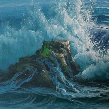 Seascape painting - signed H. GAILEY - Visual Art