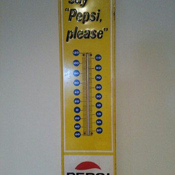 Pepsi thermometer 1965