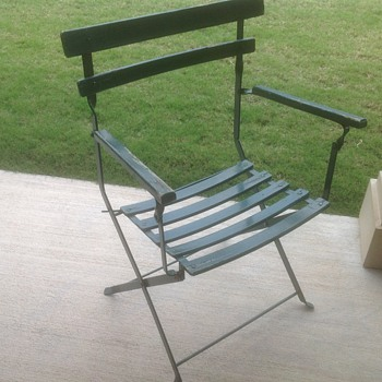 Wrigley Field Antique Field Chair 1930-1950's - Baseball