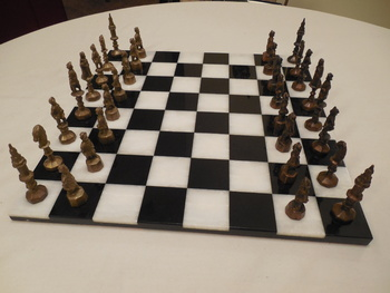 Bizarre Theme Vintage Chess Set What Are These Characters Collectors Weekly