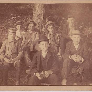 7 boys print 1888 our  realtive - Photographs