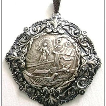 Vintage Sterling Silver Asian Pendant  - Fine Jewelry