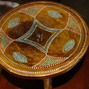 Beaded Wooden stool? - Furniture