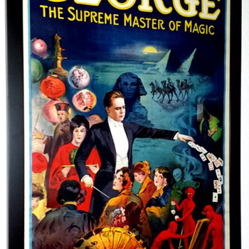 "Original George ""The Supreme Master of Magic"" Stone Lithograph Posters - Posters and Prints"