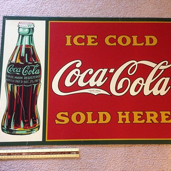 "Ice Cold Coca Cola Sold Here - 20""x28"" Coke Metal Sign"