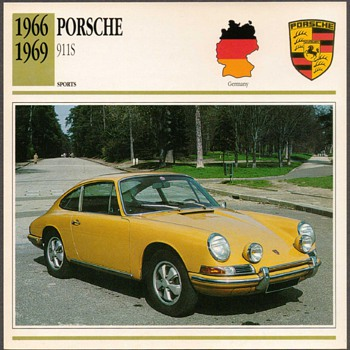 Vintage Car Card - Porsche 911S - Classic Cars