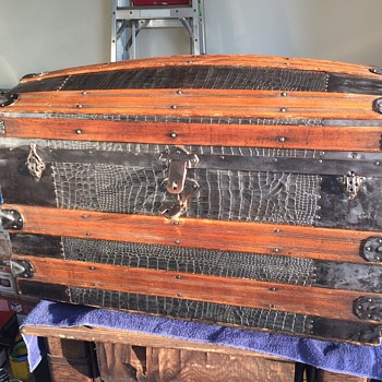 Late 1800's Barrel Top Steamer Trunk