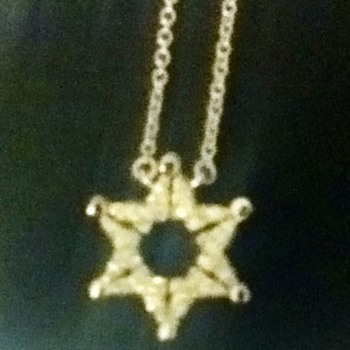 Sterling Silver Star/Butterfly Pull-Apart Necklace