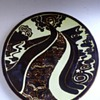 poole pottery aegean range charger by ros sommerfelt