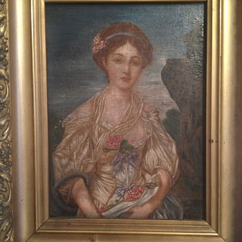 Signed by Unknown Early Antique Portrait from Pennsylvania ESTATE