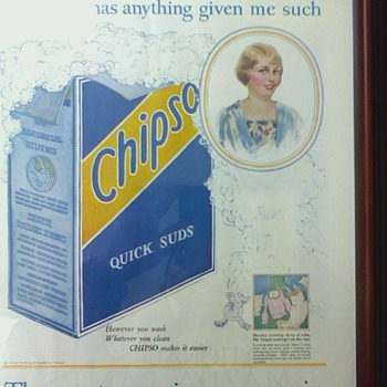 Antique Ad for Dish Soap  dated May 1925