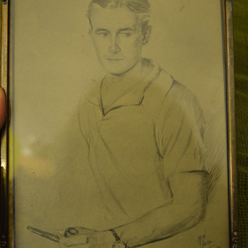 Drawing of a young man from 1929  - Visual Art