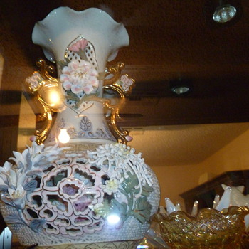 Vintage Capodimonte Vase - China and Dinnerware