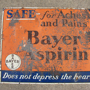 Bayer Aspirin Sign - Signs
