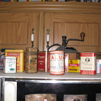 Spice Tins Tabacco Tins and Misc food tins - Tobacciana