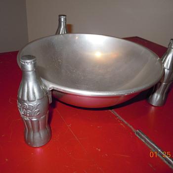 1935,  Aluminum,  Coca-Cola Pretzel Dish - Coca-Cola