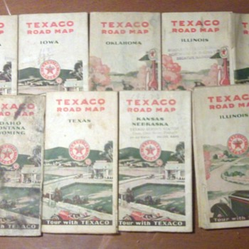Vintage Texaco Road Maps  - Petroliana