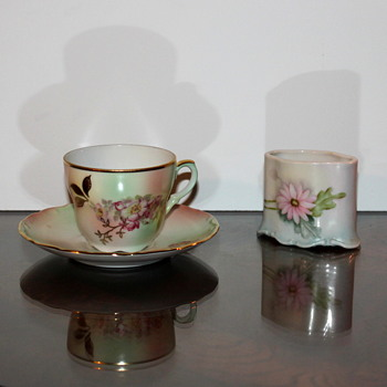 House of  Gobel Tea Cup/Saucer & Unexplained shadow