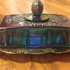 Carnival Glass Butter Dish