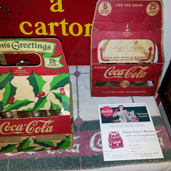 4 Vintage Coca-Cola Carriers - Coca-Cola