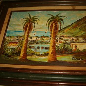"Old Tiberias Painting,Signed ""SAL"" - Visual Art"