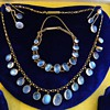 Antique Victorian Ceylon Moonstone 15kt Parure Necklace Earrings Bracelet