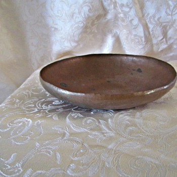 Simple Arts and Crafts Copper Bowl by Shubert
