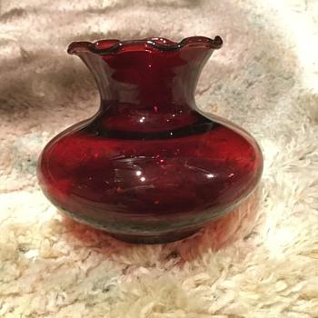 Little red vase