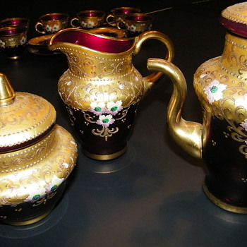 Antique Murano Italian Glass Tea Set - Glassware