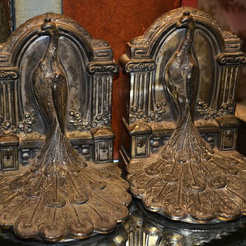 Victorian Peacock Bookends
