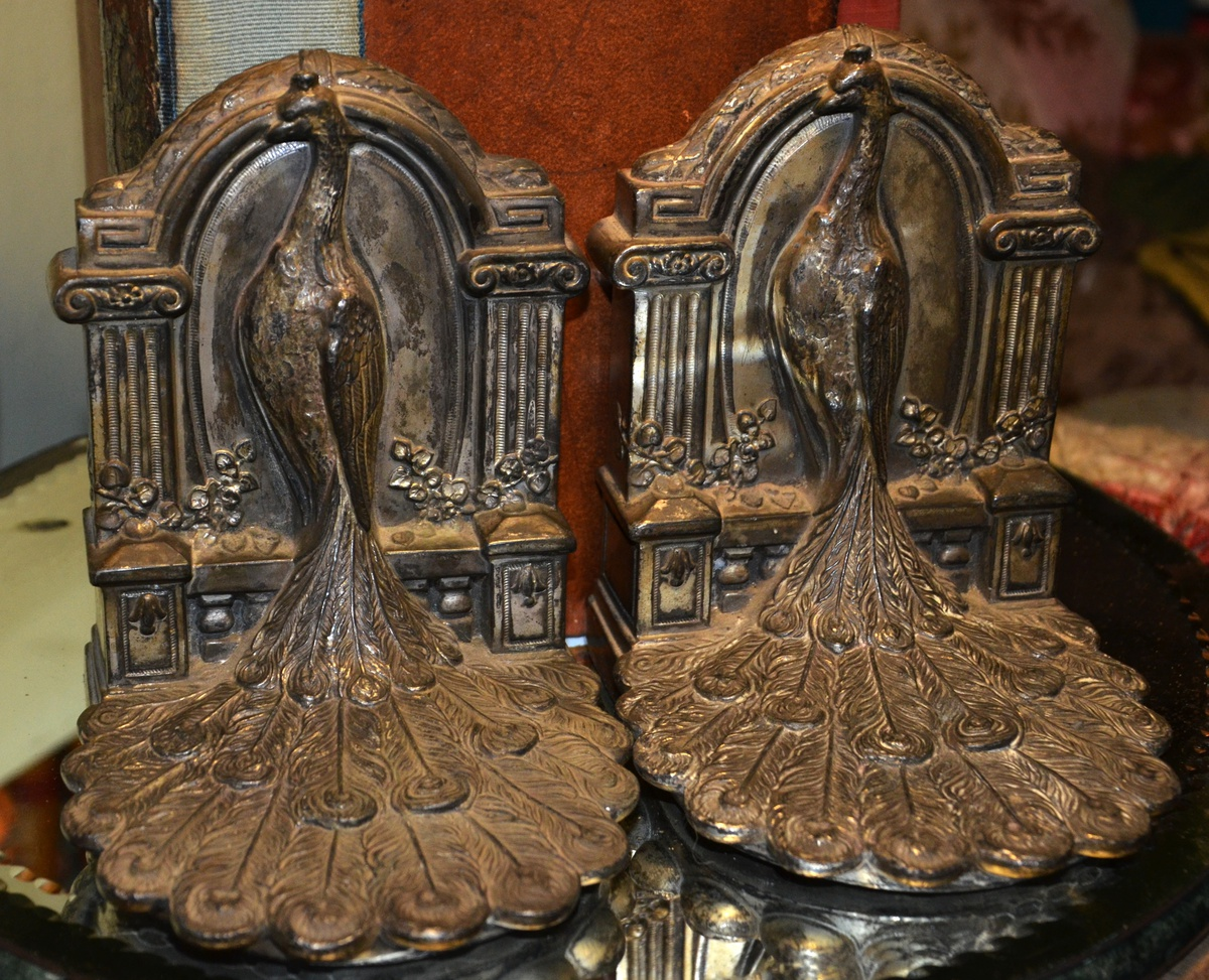 Victorian Peacock Bookends Collectors Weekly