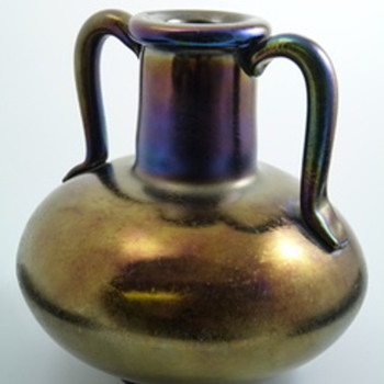 Thomas Webb Bronze Glass Vase