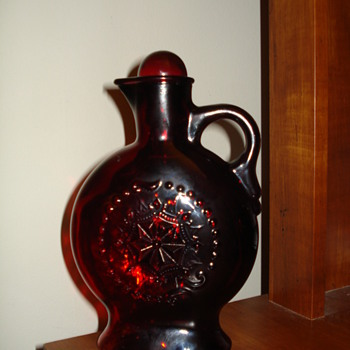 Red Glass Pitcher - Glassware
