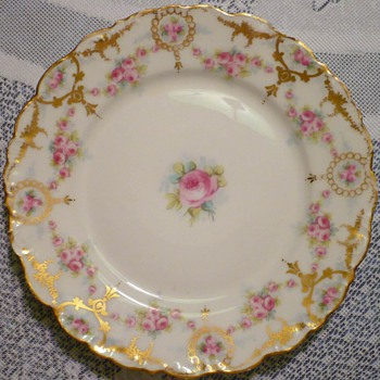 Bawo Dotter Plate Marked Elite Works/Elite Limoge - China and Dinnerware