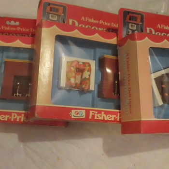 1978 FISHER-PRICE DOLLHOUSE DECORATOR SETS FACTORY SEAL MINT - Toys
