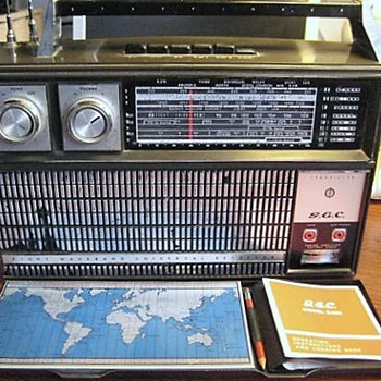 1967-gec starfinder radio-9 volt portable battery