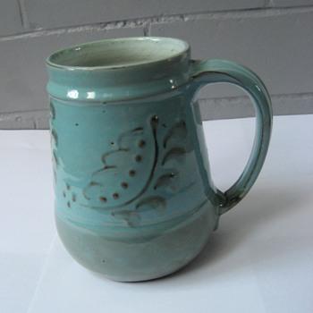 WilliamFishley Holland Tankard Aqua Coloured Glaze