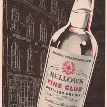 1950 Bellows Gin Advertisement