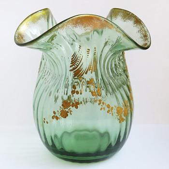 Legras St-Denis Gilt Rococo Revival Vase - Art Glass
