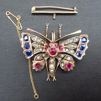 Antique Victorian  Butterfly Pendant, Brooch