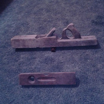 Wood plane and level