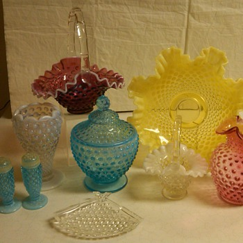 GREAT GROUPING OF FENTON HOBNAIL FROM MY COLLECTION