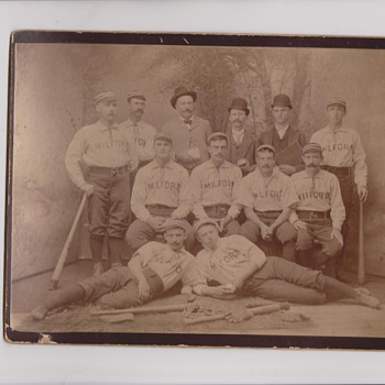 Another Early Milford NH Baseball Team Cabinet Photo