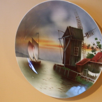 WWII Souvenir Brought Home  Dec. 1 1945 Large VILLEROY & BOCH PLATE - Art Pottery