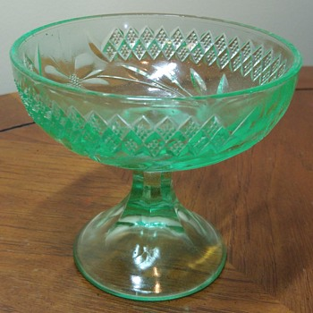 Uranium Glass Compote