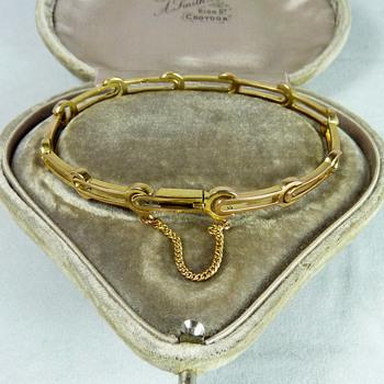 Russian Pre-Revolutionary 14k Gold Bracelet by Faberge subcontactor, Abraham Beilin - Art Nouveau