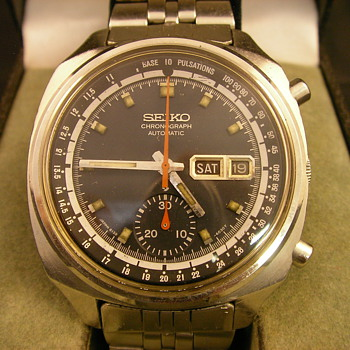 1971 Seiko 6022 - Doctor's Chronograph Automatic - Wristwatches