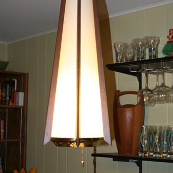 Danish modern swag lamp