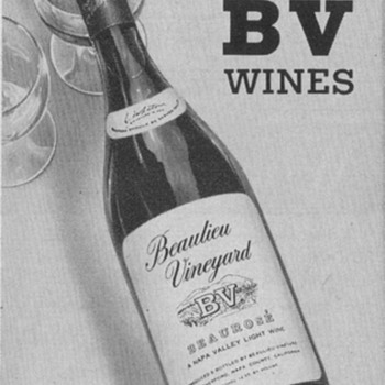 1954 Beaulieu Wines Advertisements - Advertising