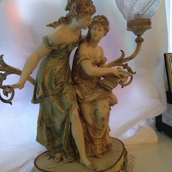 Two ladies lamp